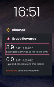 estimación recompensas Brave